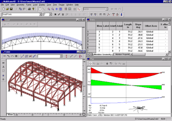 Multiframe building design and analysis